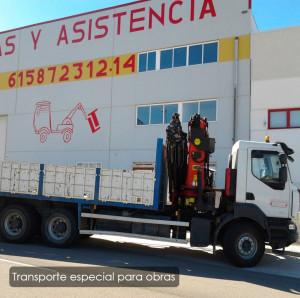 Transportes especiales para obras